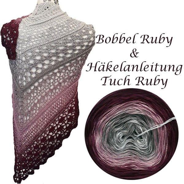 Bobbel Ruby und Anleitung Tuch Ruby