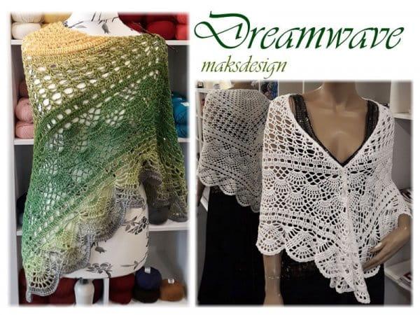 Häkelanleitung Dreieckstuch Dream Wave