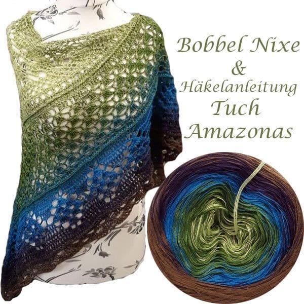 Bobbel Nixe und Anleitung Tuch Amazonas