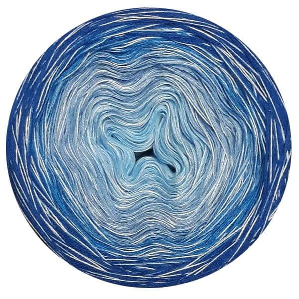 Bobbel Farbverlaufsgarn Blue White